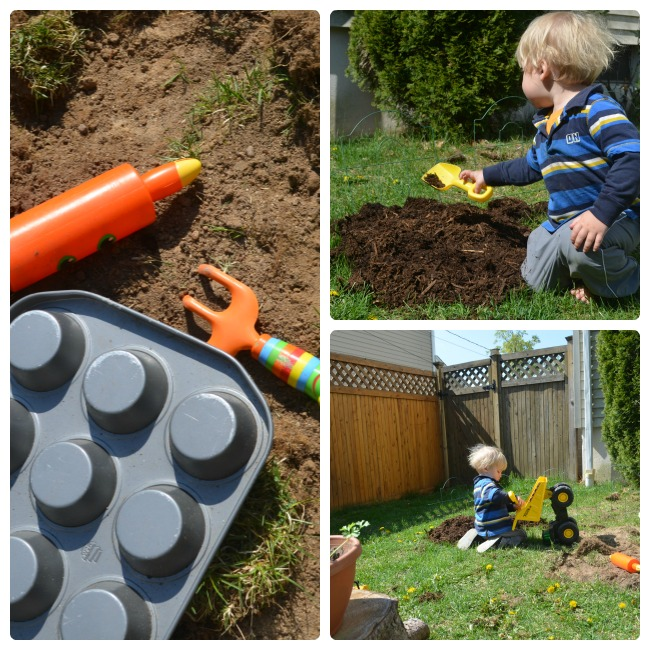 Create a natural play area for kids to explore