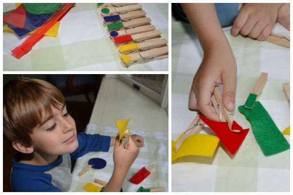 Shapes and Colors Busy Bag-games for toddlers and preschoolers