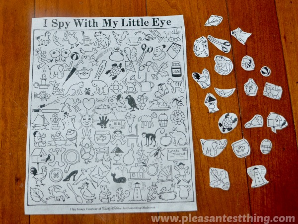 """Search and  Find game with """"I Spy"""" printable"""