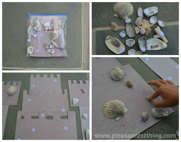 Create a sandcastle busy bag