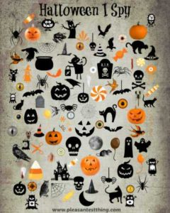 Halloween I Spy Free printable