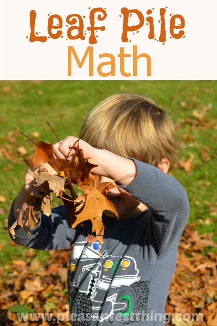 Leaf Pile Math: have fun in the leaves while practicing spatial relationships and positioning