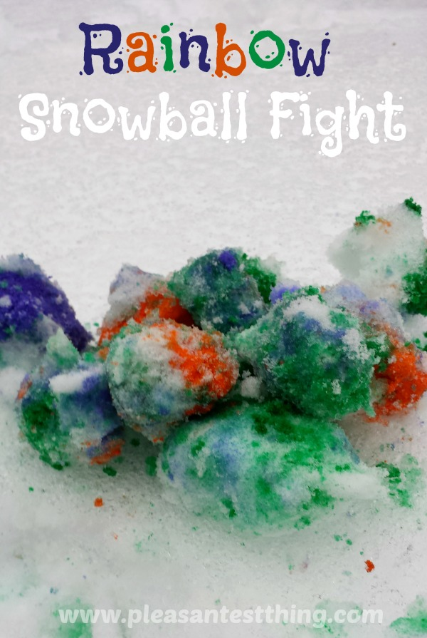 Color the snow with a Rainbow snowball fight!