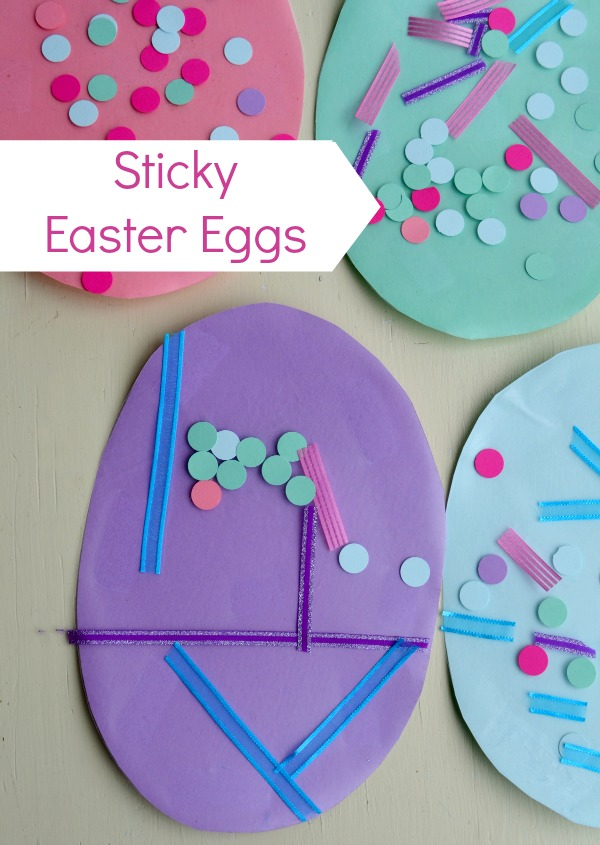 Sticky Easter Egg Craft