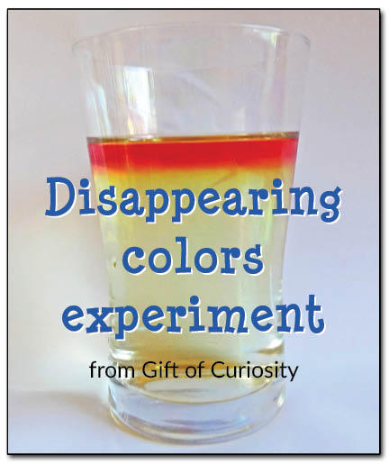 Disappearing colors experiment