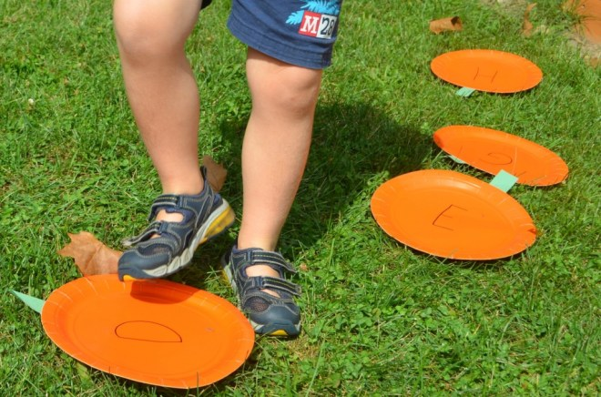 Move and learn the ABC's with this pumpkin patch game!
