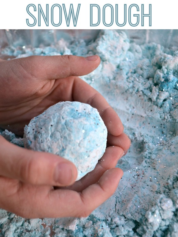 Snow Dough! Fun sensory play dough inspired by Frozen