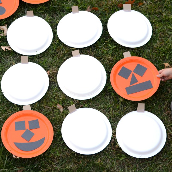 Play BIG memory-- this is a fun Halloween game to take outside. And it's as much fun to make as it is to play!