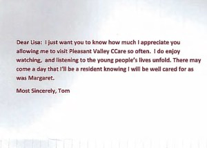 Pleasant Valley Care Home Testimonial 1