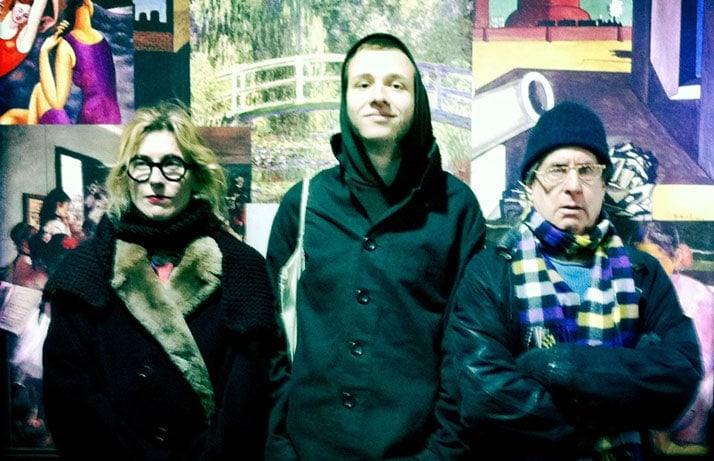 Gillian McCain, Joscha and Danny Fields on a wintry night in New York.
