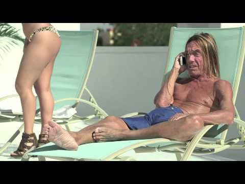 Iggy Pop outside his home, probably in Miami Beach