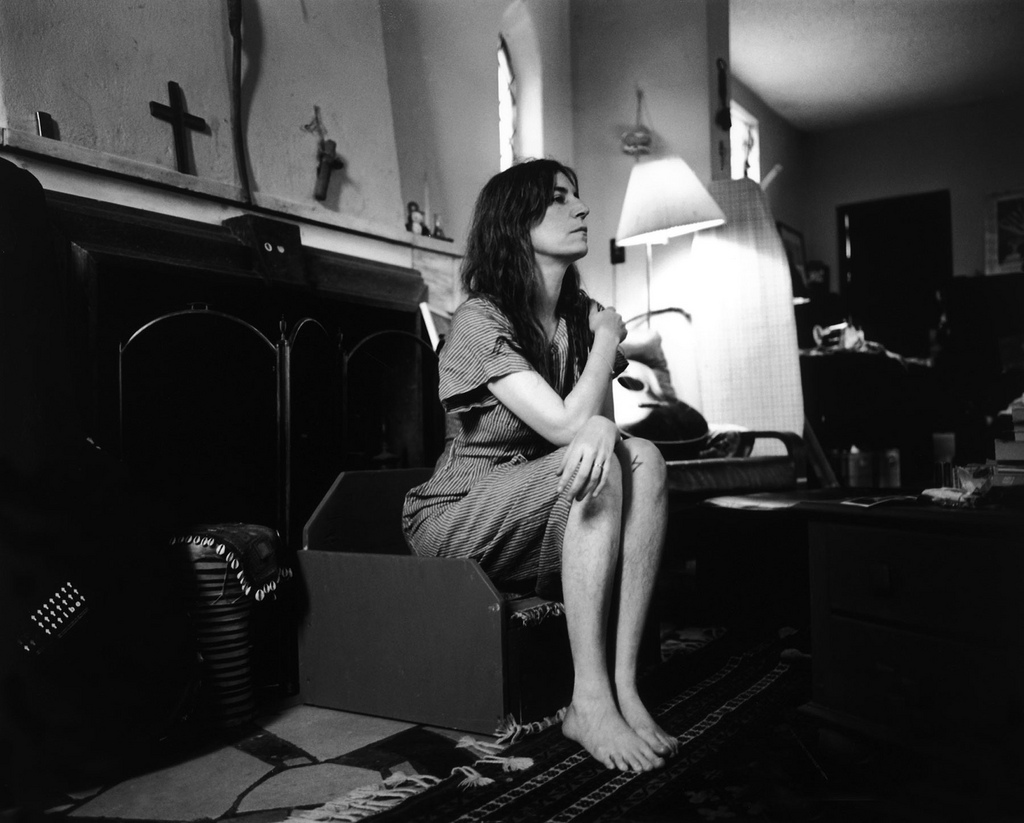 "Patti Smith in Detroit, possibly in house she shared with Fred ""Sonic"" Smith, 1995"