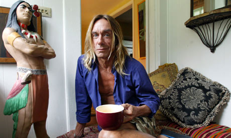 Iggy Pop in bungalow man-cave in Little Haiti, Miami