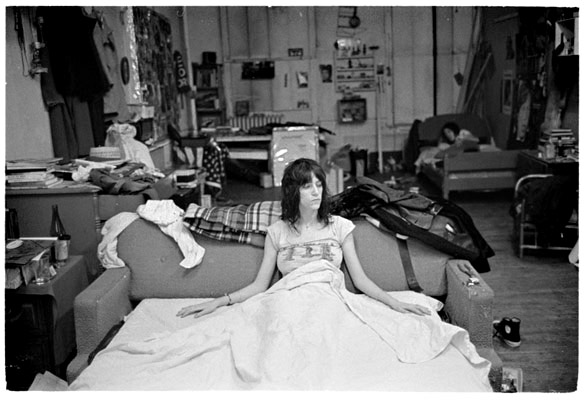 Patti Smith in apartment on 23rd street. Photo by Judy Linn.