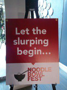 Noodle Bowl Fest 2013