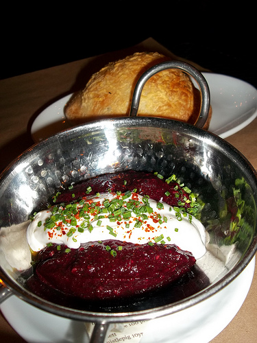 Roasted Red Beet Za'atar and Sumac Lebni