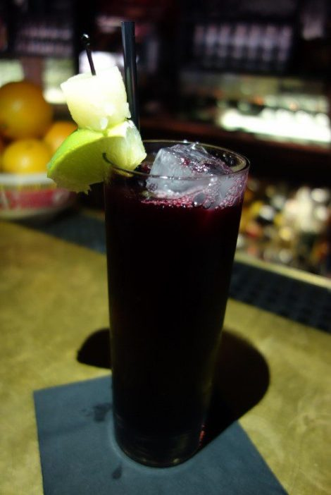 Chicha Morada (purple corn, quince, pineapple, sugar, lime)
