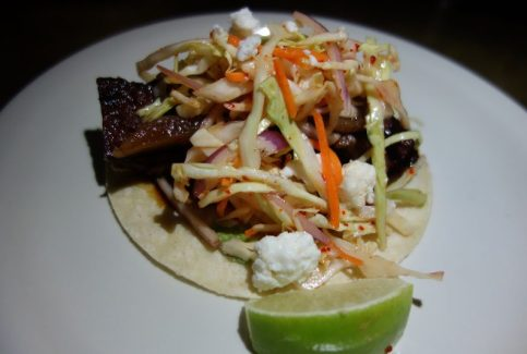 Korean BBQ Briskey, asian slaw, carmelized onion, queso panela