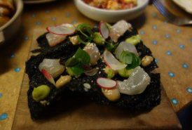 hamachi-avocado & seaweed cracker