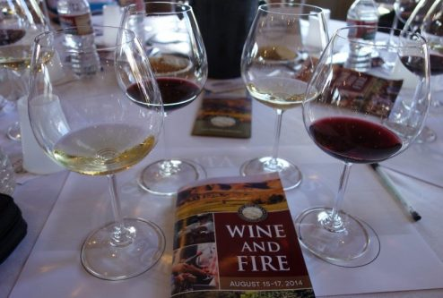 Wine and Fire 2014 The Dirty Truth Seminar and Lunch at Fiddlestix Vineyard Barn