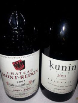 Chateau Mont-Redon 2003 Chateauneuf du Pape and Kunin 2003 Pape Star