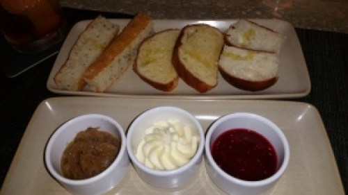 Bread with three toppings