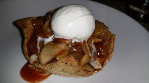 Honey Crisp Apple Tart with Pumpkin Seed Crust and Mascarpone Gelato