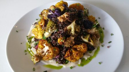 Roasted Cauliflower and Black Quinoa