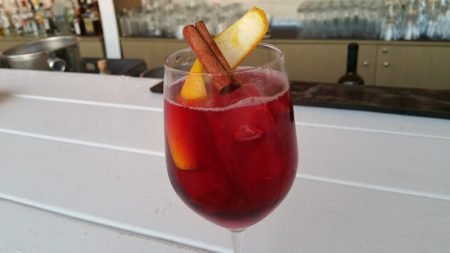 Chrysallis (semi-sweet red, crème de cassis, cranberry juice, cinnamon, orange, top with prosecco)