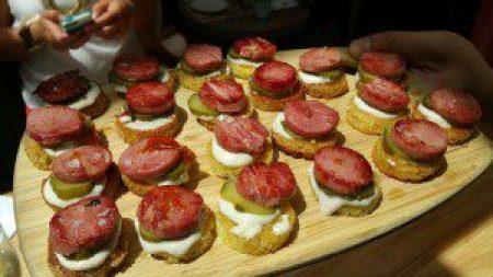 Veal Tongue Tonnato, olive oil brioche