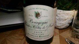 Hudelot-Baillet 2013 Hautes Cotes de Nuits Bourgogne