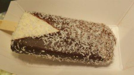 Coconut Gelato with dark and milk chocolate and coconut