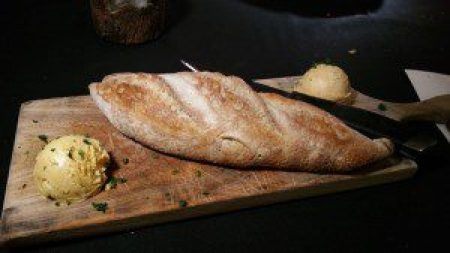 Artisanal Baguette with Jalapeno butter