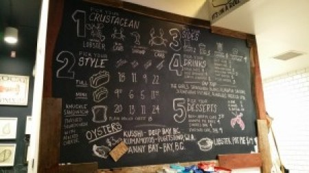 Knuckle & Claw Menu