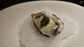 Kusshi oyster, Fennel puree, caviar