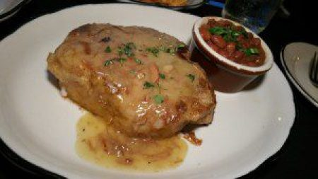 Beeler's Pork Porterhouse with pig neck gravy