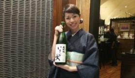 mio-okura-with-ikina-onna-daiginjo-sake