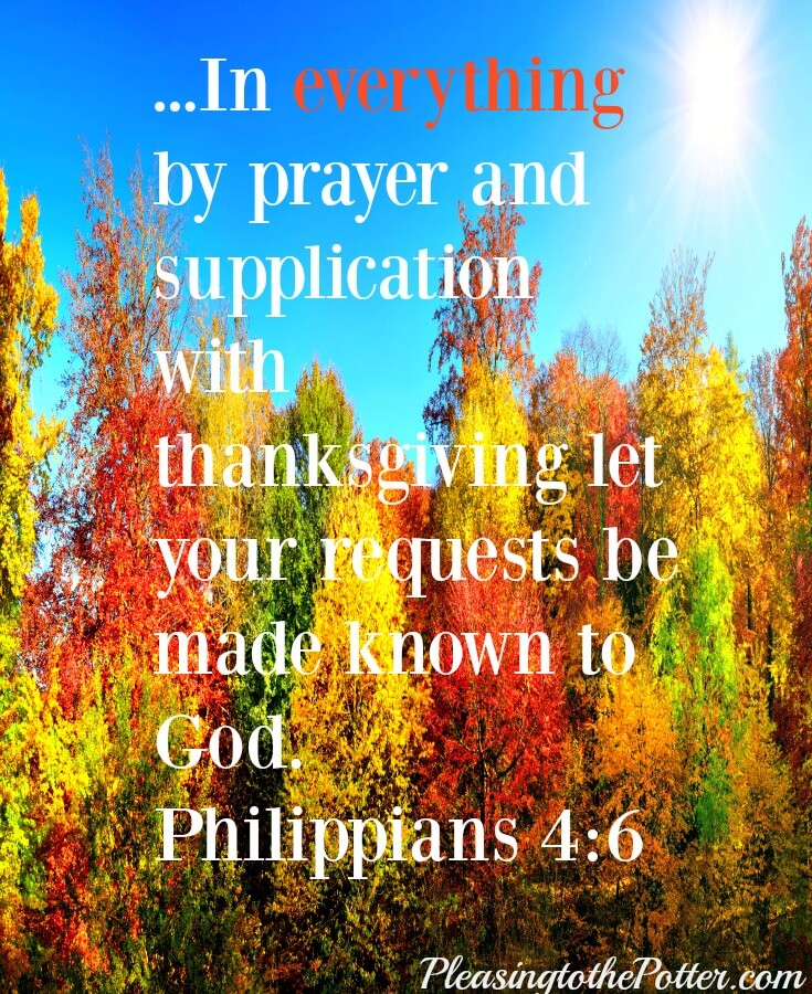 Thanksgiving Prayer:pray with a heart of thanksgiving to our Savior, Jesus.