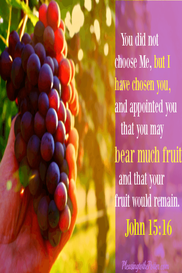 God has chosen you to live for Him!