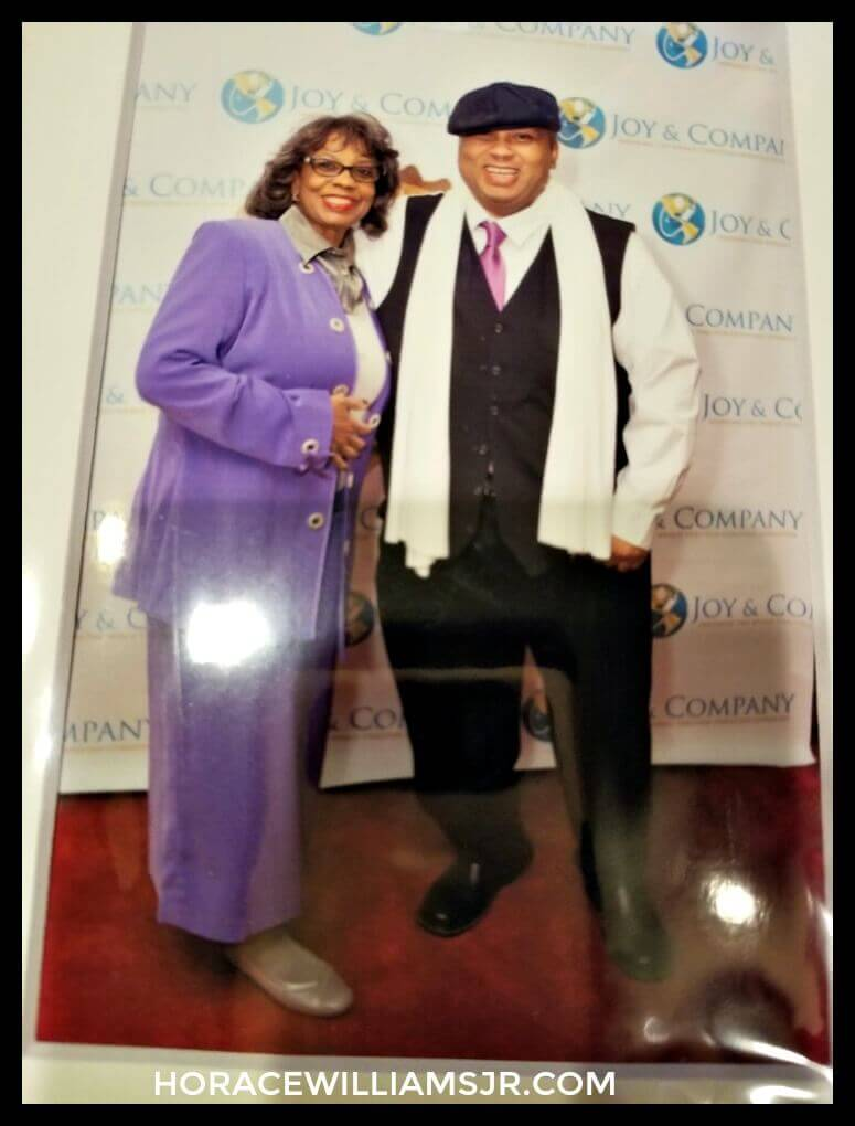 2018 Christian Literary Awards- Me and mom on red carpet.