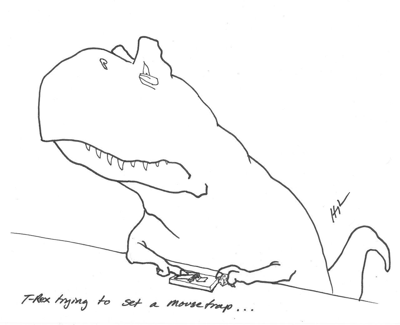 T-Rex Trying Things (20 Pics)