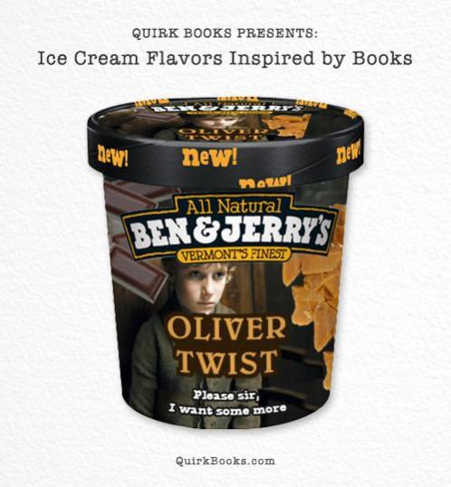 Books Inspired Icecream