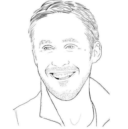the ryan gosling coloring book (8 pics)  pleated jeans