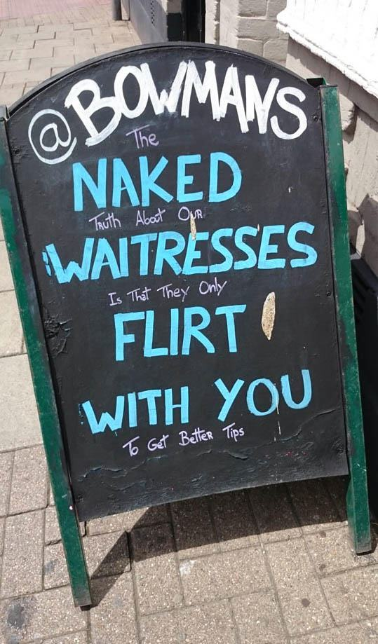 20 Funny Signs Spotted in the Wild  Pleated Jeans