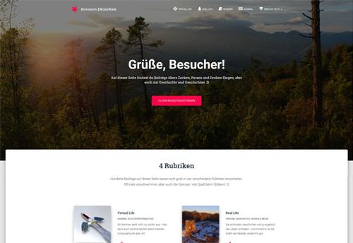 Screenshot neues Plejadium-Design