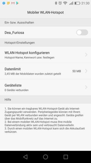 Mobilen Hotspot auf dem Smartphone einrichten