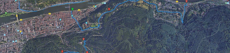 Verwendung von GPX- und KML-Dateien mit Google Maps