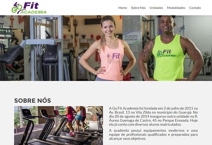 Go Fit Academia - Site