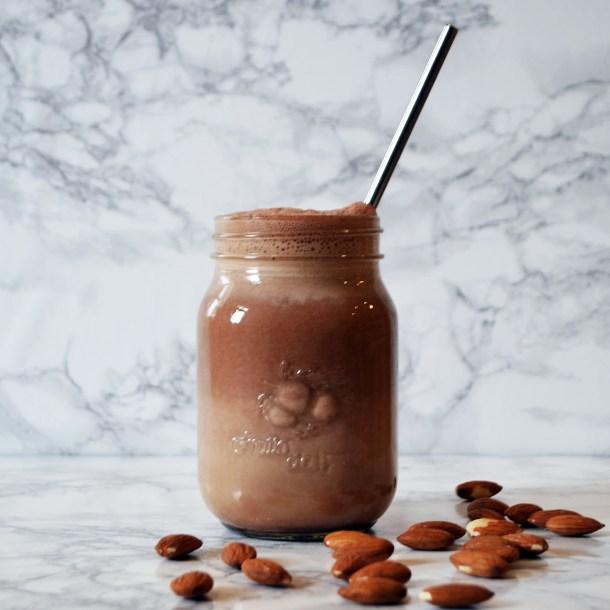 Homemade almond coconut milk vegan dairy free