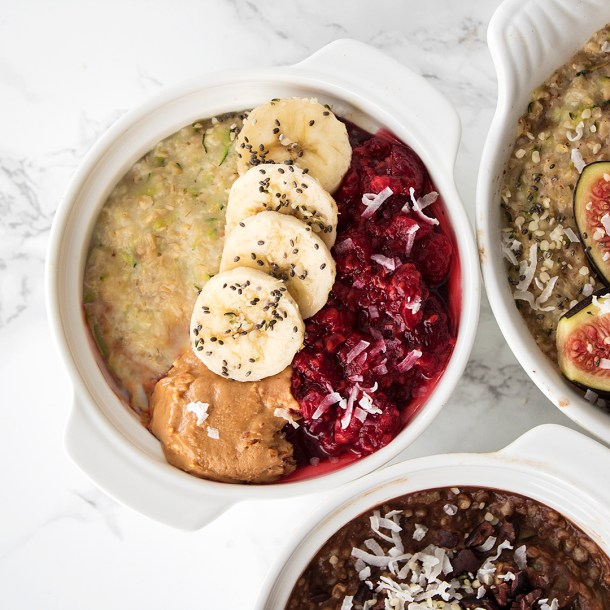 vegan zucchini oats 3 ways